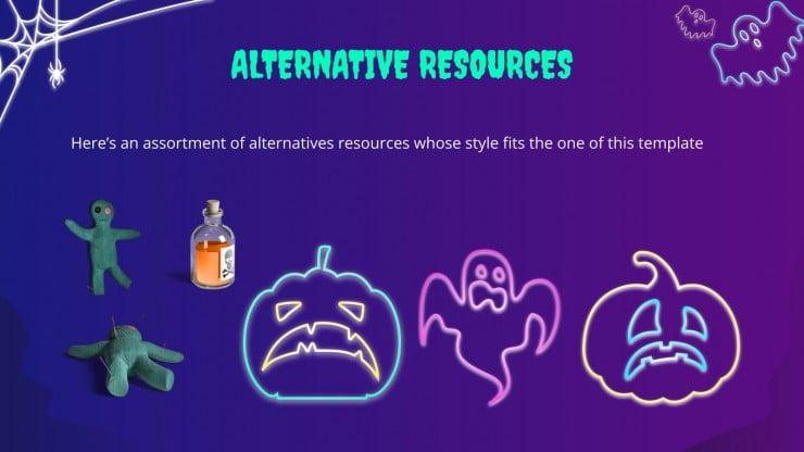 Neon Halloween Sales MK Campaign presentation template