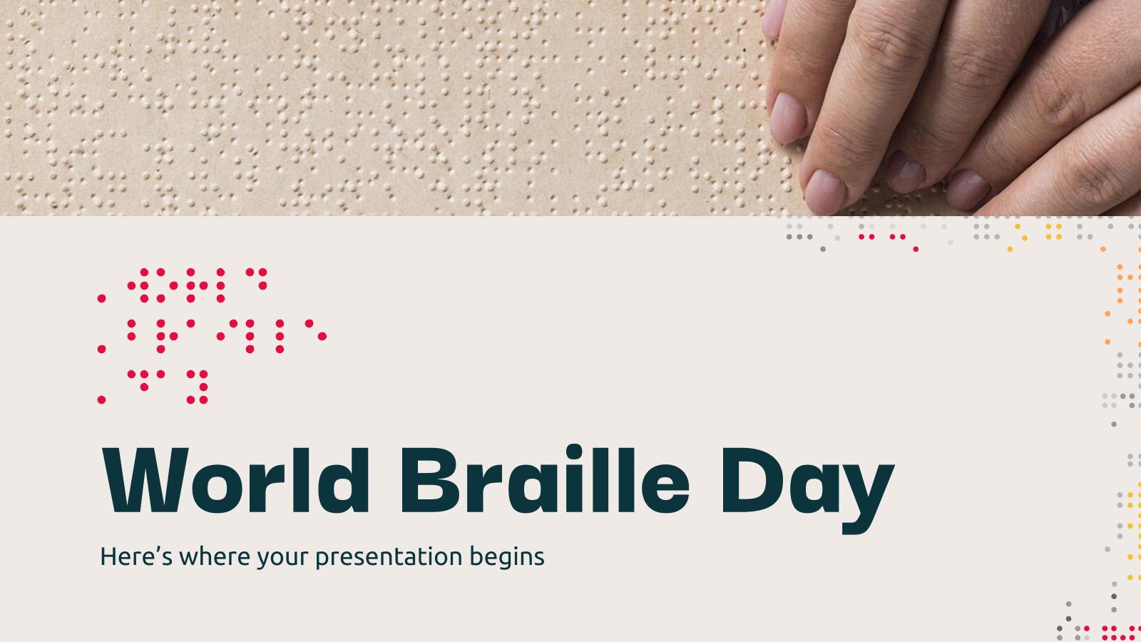 Plantilla de presentación Día Mundial del Braille
