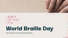 Modelo de apresentação Dia Internacional do Braile