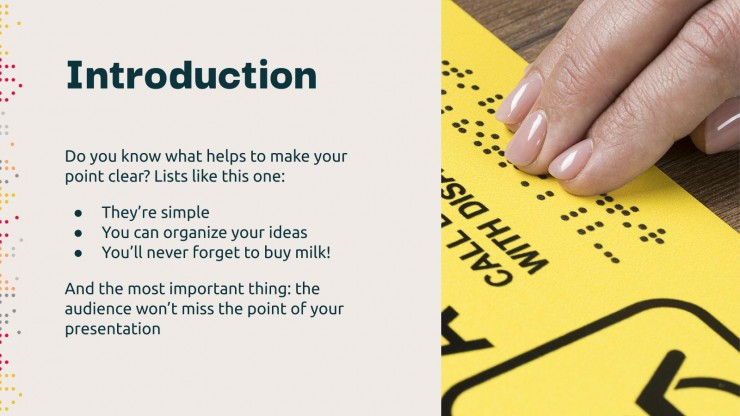 World Braille Day presentation template