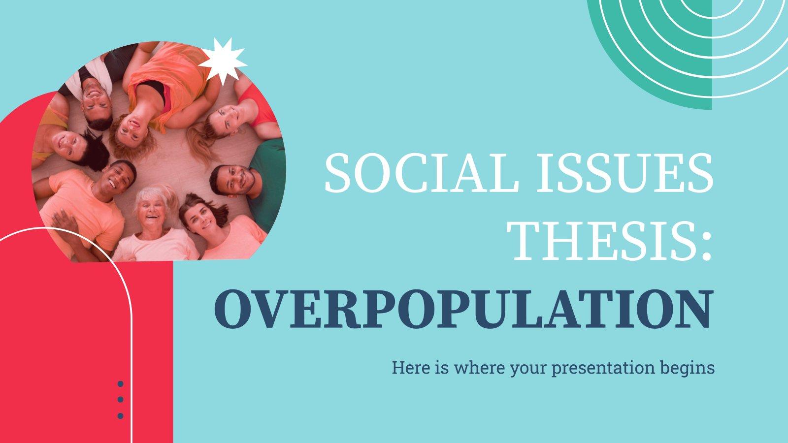 Plantilla de presentación Tesis sobre problemas sociales: La sobrepoblación