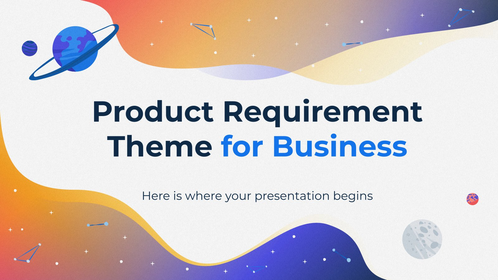 Product Requirement Theme for Business presentation template