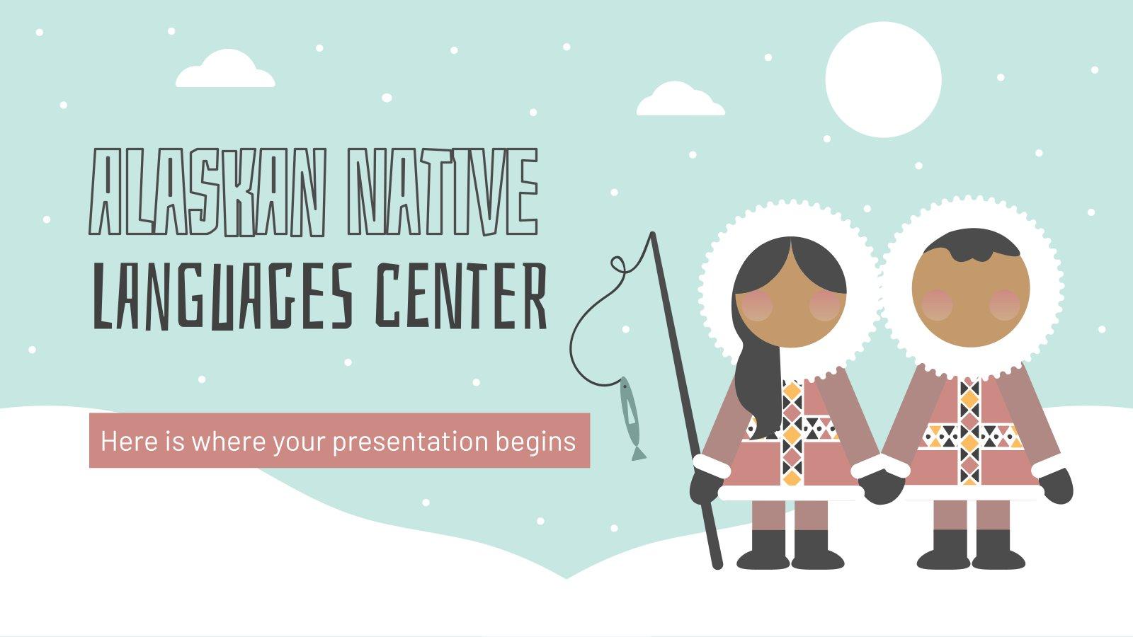 Zentrum für indigene Sprachen Alaskas Präsentationsvorlage