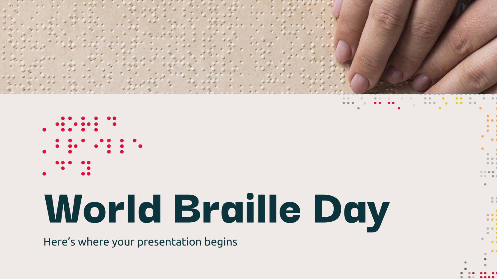 World Braille Day presentation template