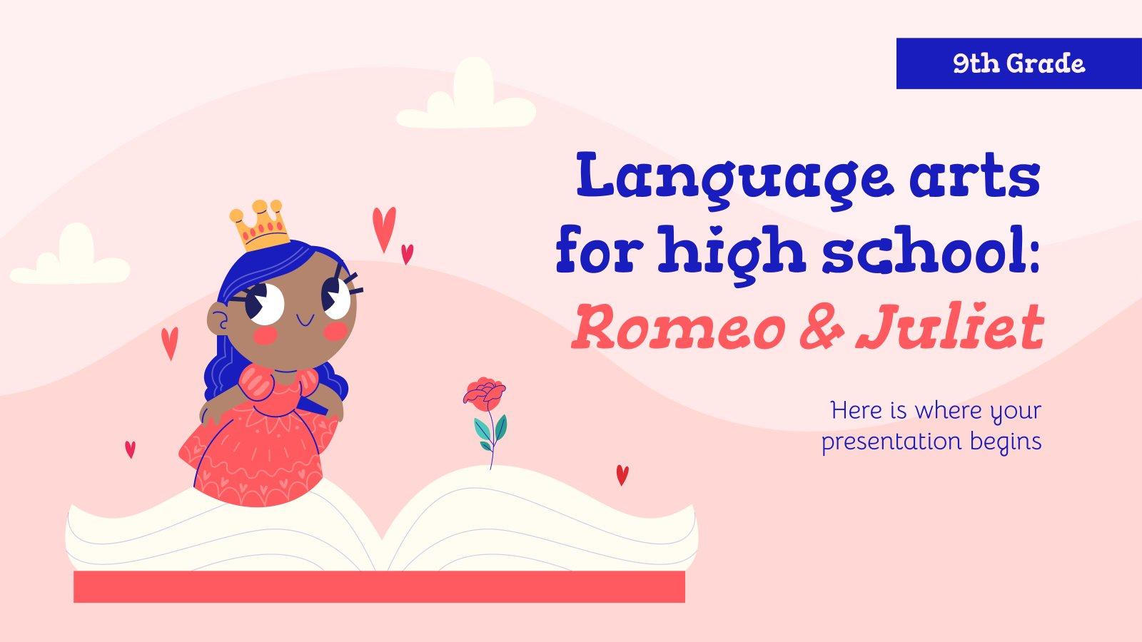 Modelo de apresentação Língua e literatura para o ensino médio: Romeu e Julieta