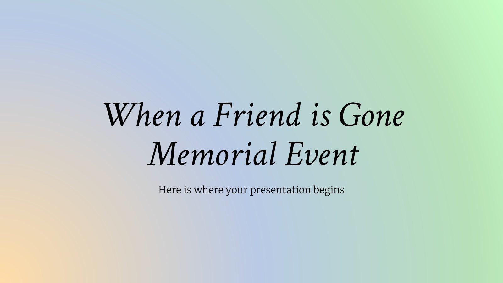 Quand un ami part : Modèles de présentation