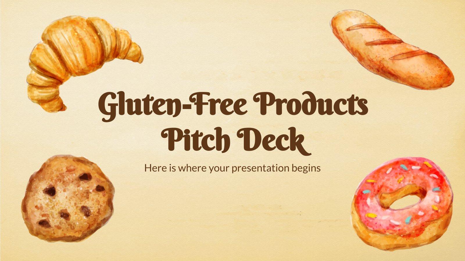 Plantilla de presentación Pitch deck de productos sin gluten