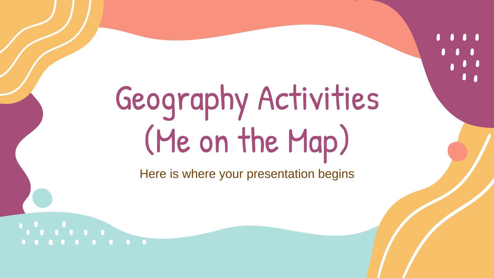 Plantilla de presentación Actividades de geografía