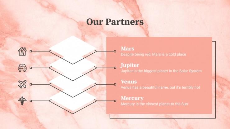 Marmor-Geschäftsplan Präsentationsvorlage