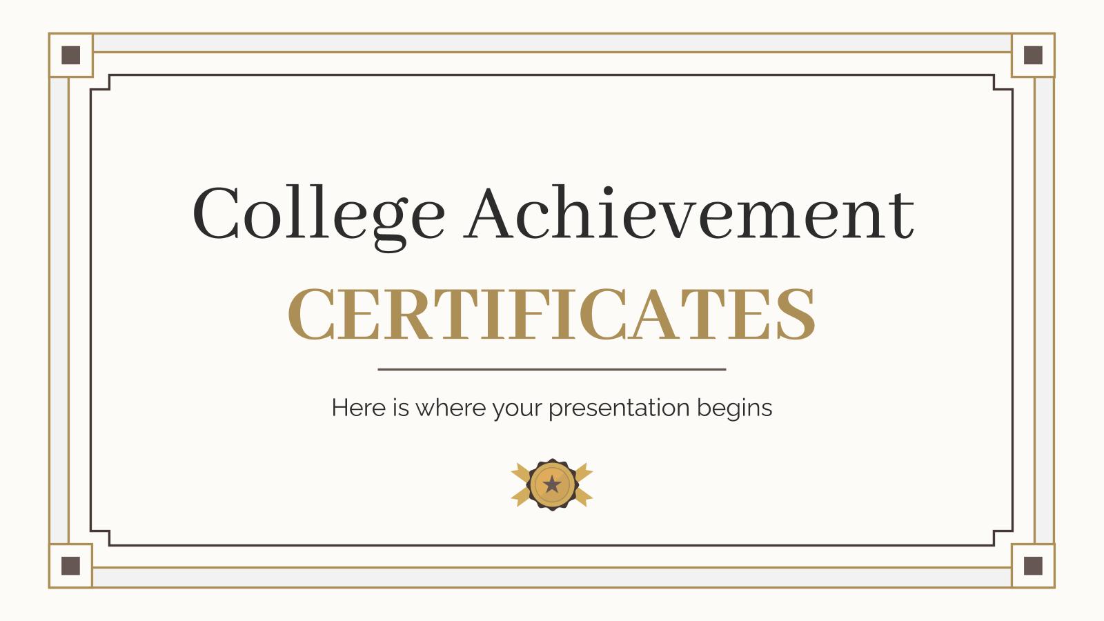 Modelo de apresentação Diplomas da faculdade