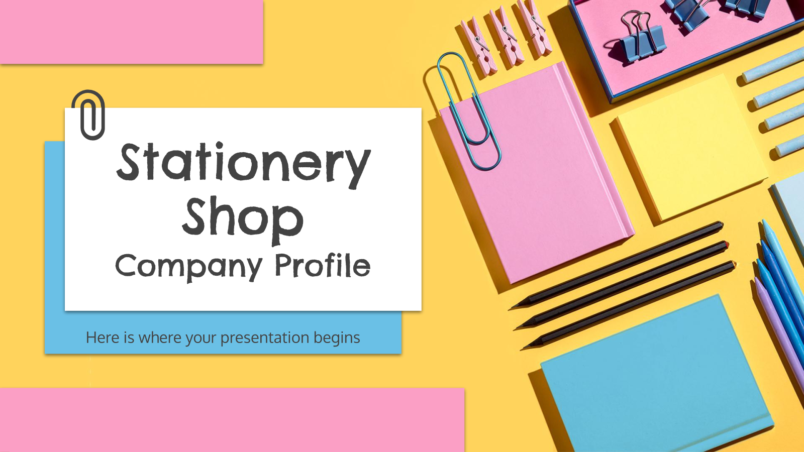 Stationery Shop Company Profile presentation template