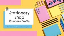 Stationery Shop Company Profile presentation template