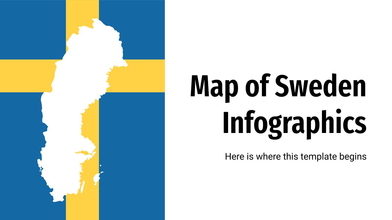 Infographies de carte de la Suède : Modèles de présentation