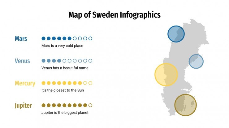 Map of Sweden Infographics presentation template