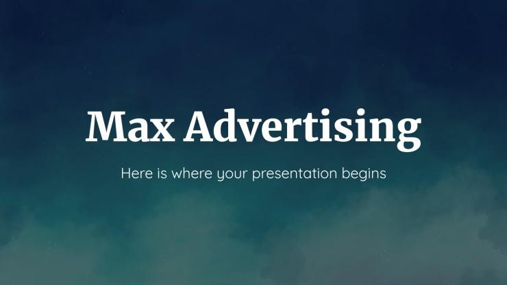 Modelo de apresentação Agência de publicidade Max