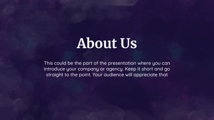 Max Advertising Agency presentation template