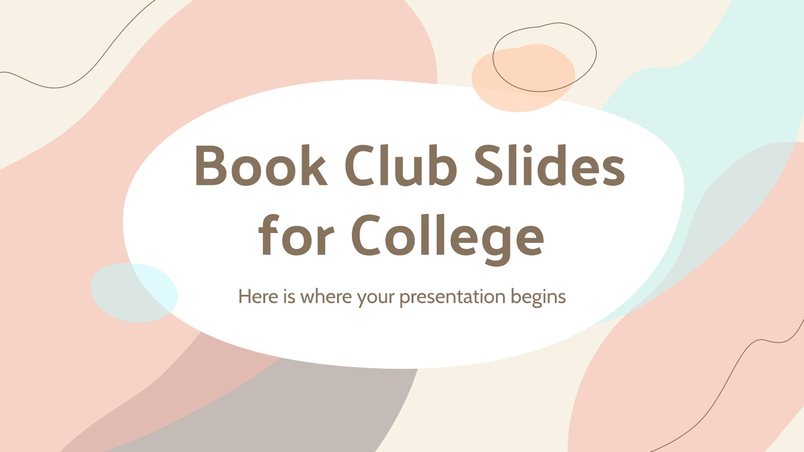 Book Club Slides for College presentation template