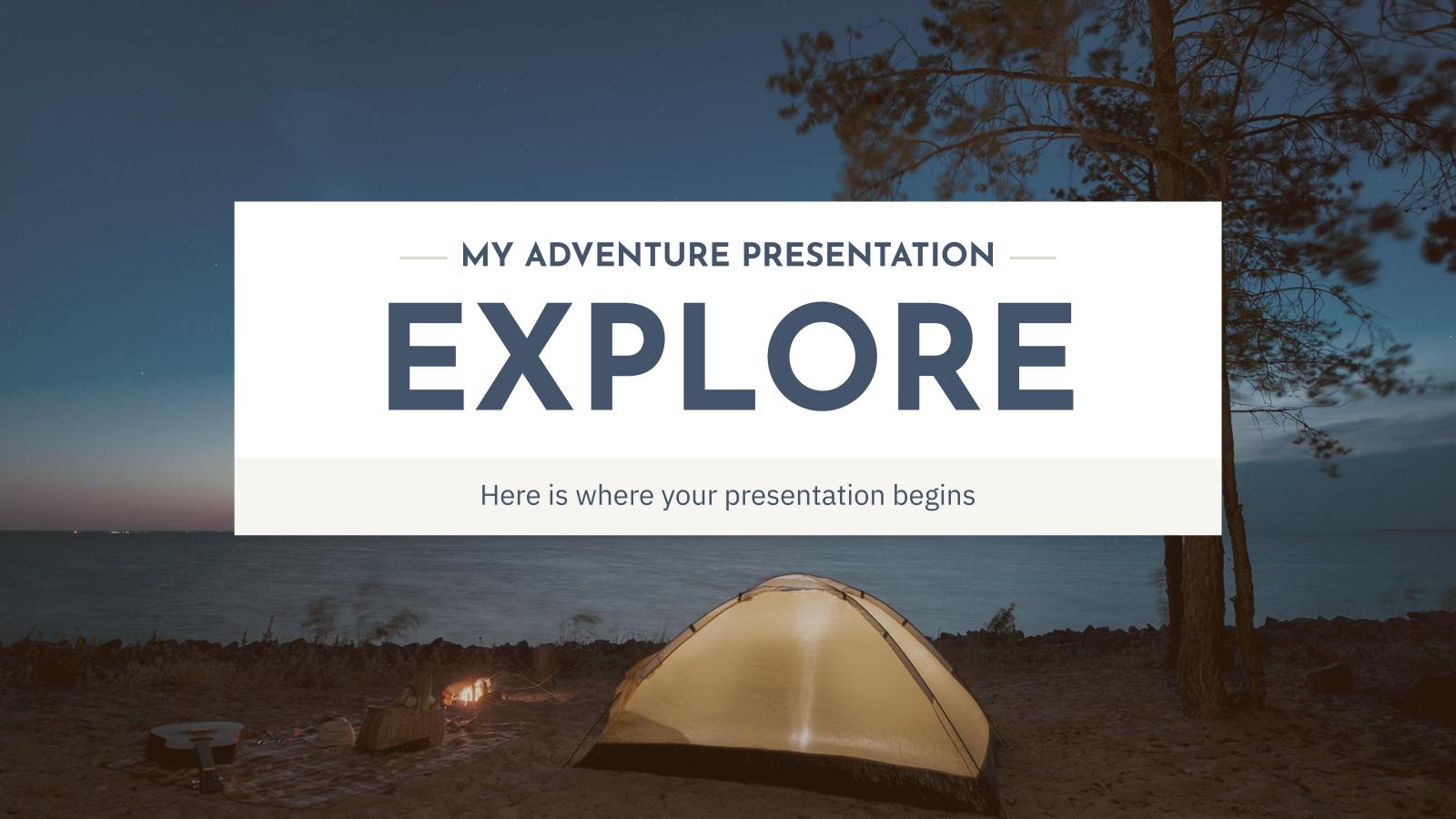 Plantilla de presentación Explora y viaja