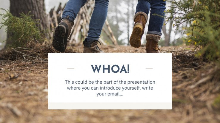 Explore and Travel presentation template