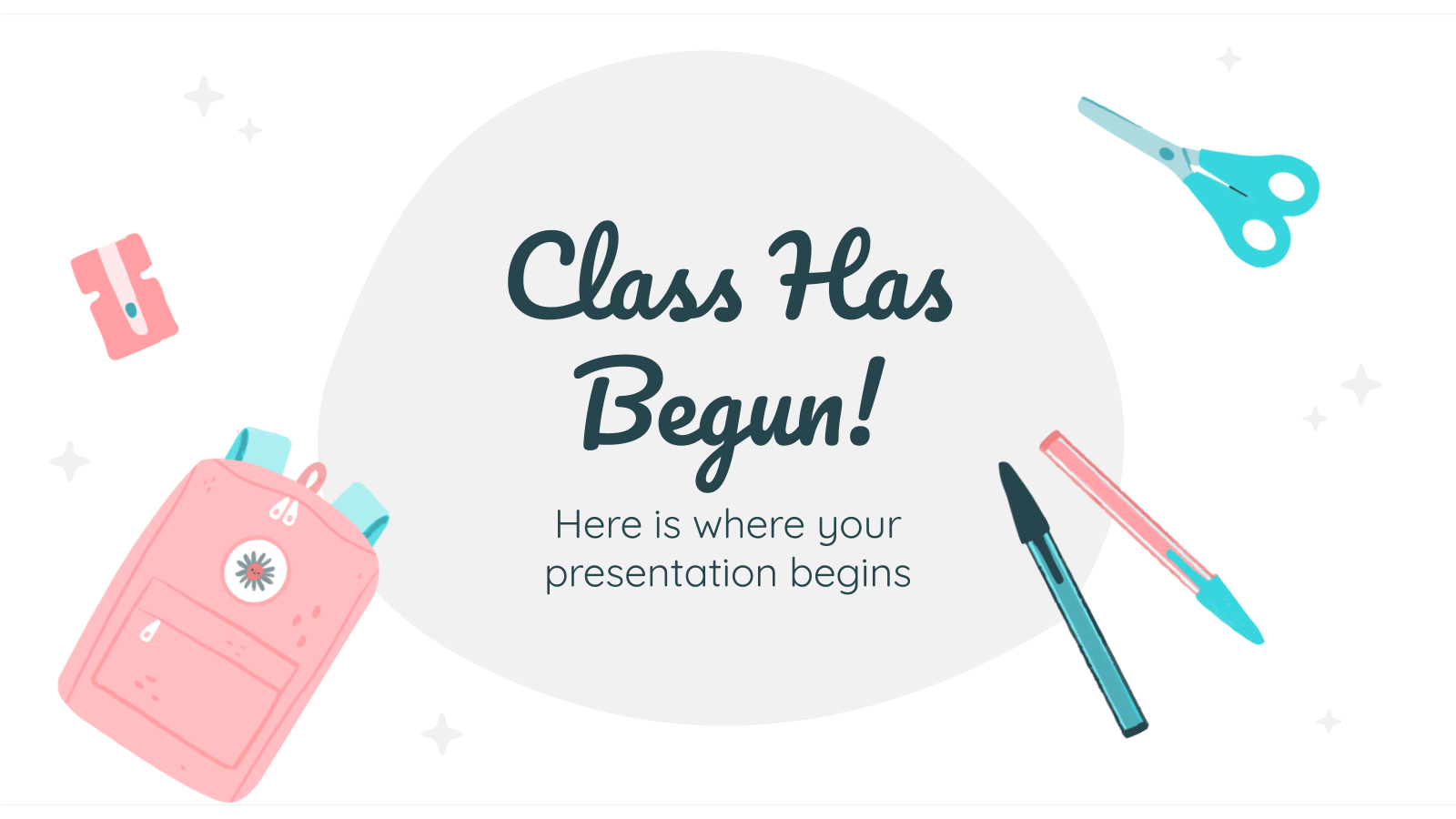 Class Has Begun presentation template