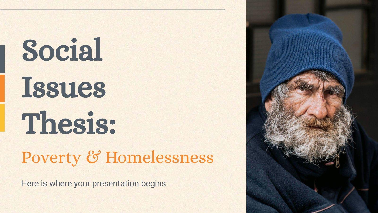 Plantilla de presentación Tesis sobre problemas sociales: Pobreza