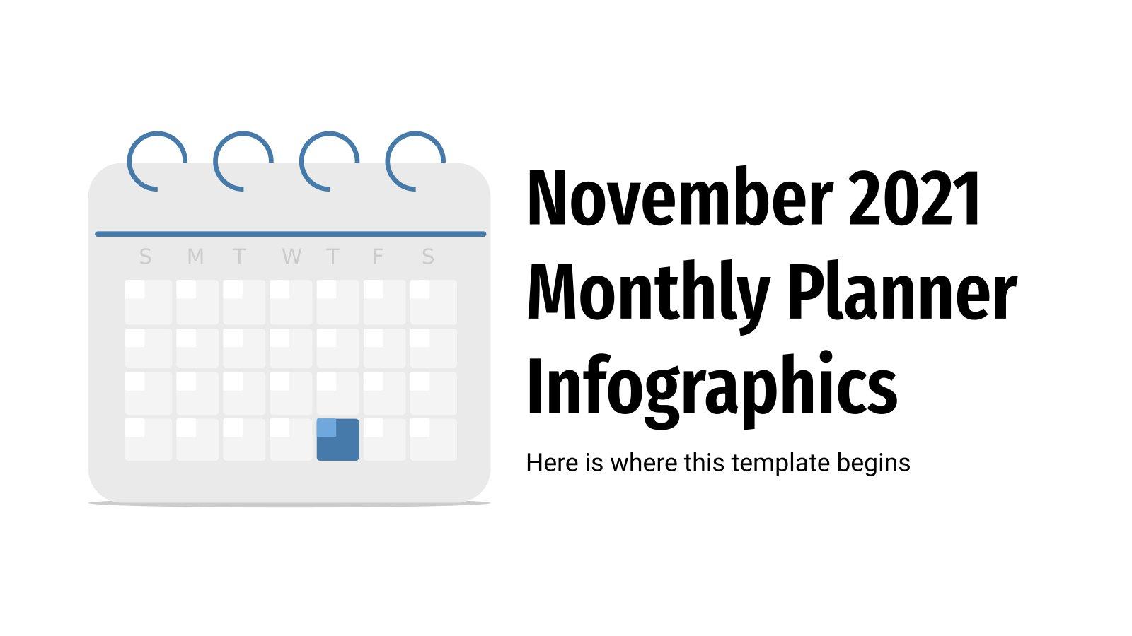 Modelo de apresentação Agenda do mês de novembro 2021