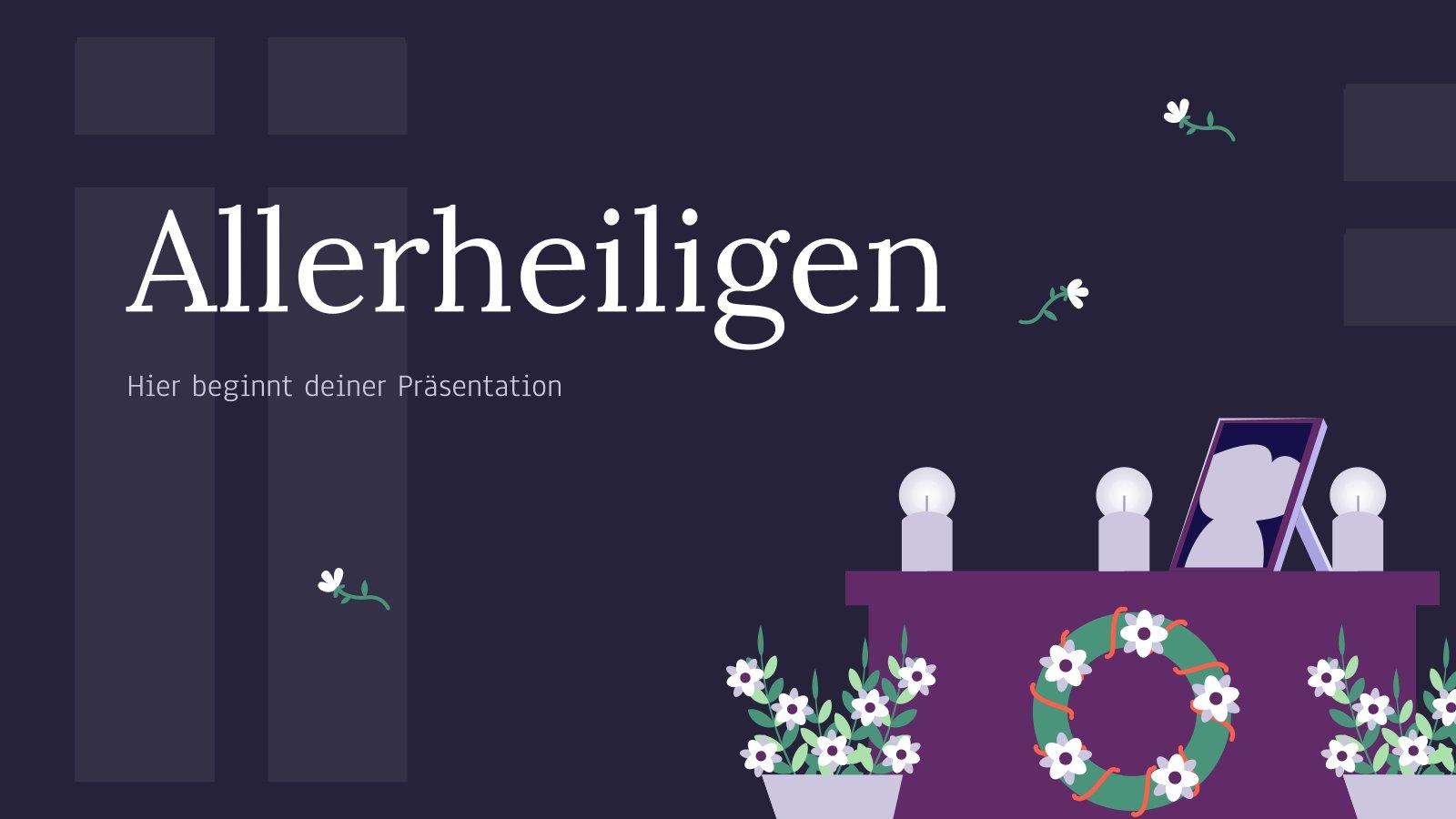 Plantilla de presentación Día de todos los santos en Alemania