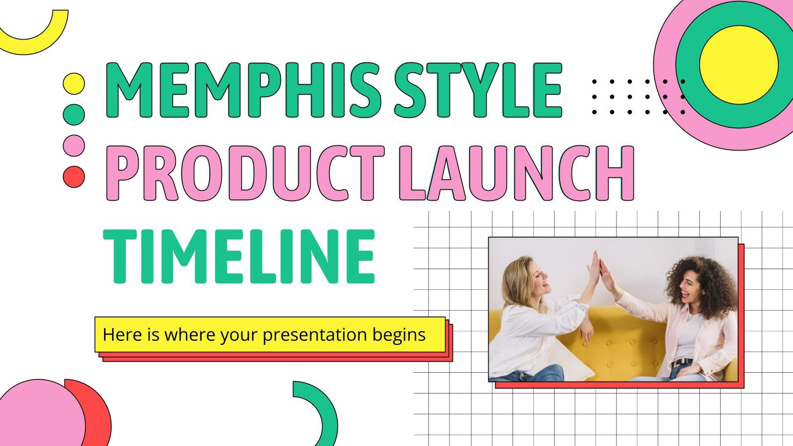 Memphis Style Produkteinführung Präsentationsvorlage