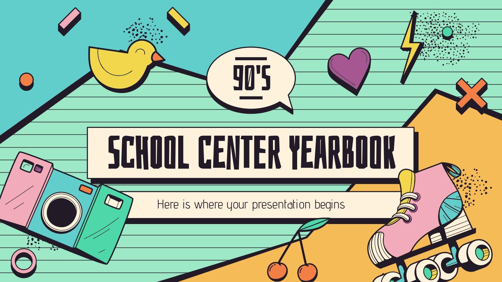 90er Jahre Jahrbuch Präsentationsvorlage