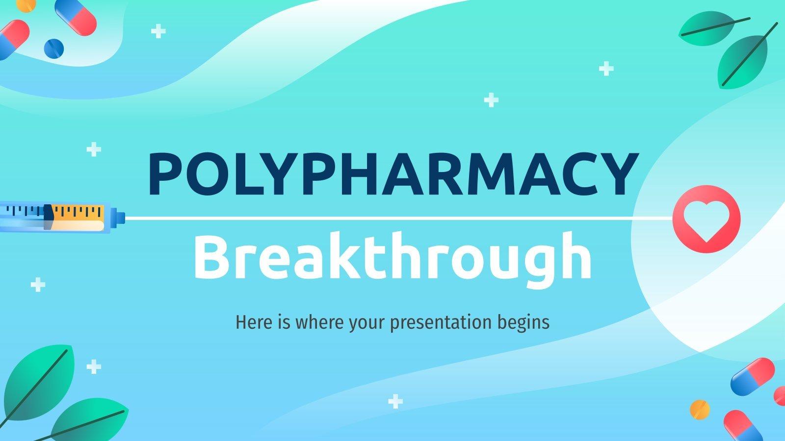 Durchbruch der Polypharmazie Präsentationsvorlage