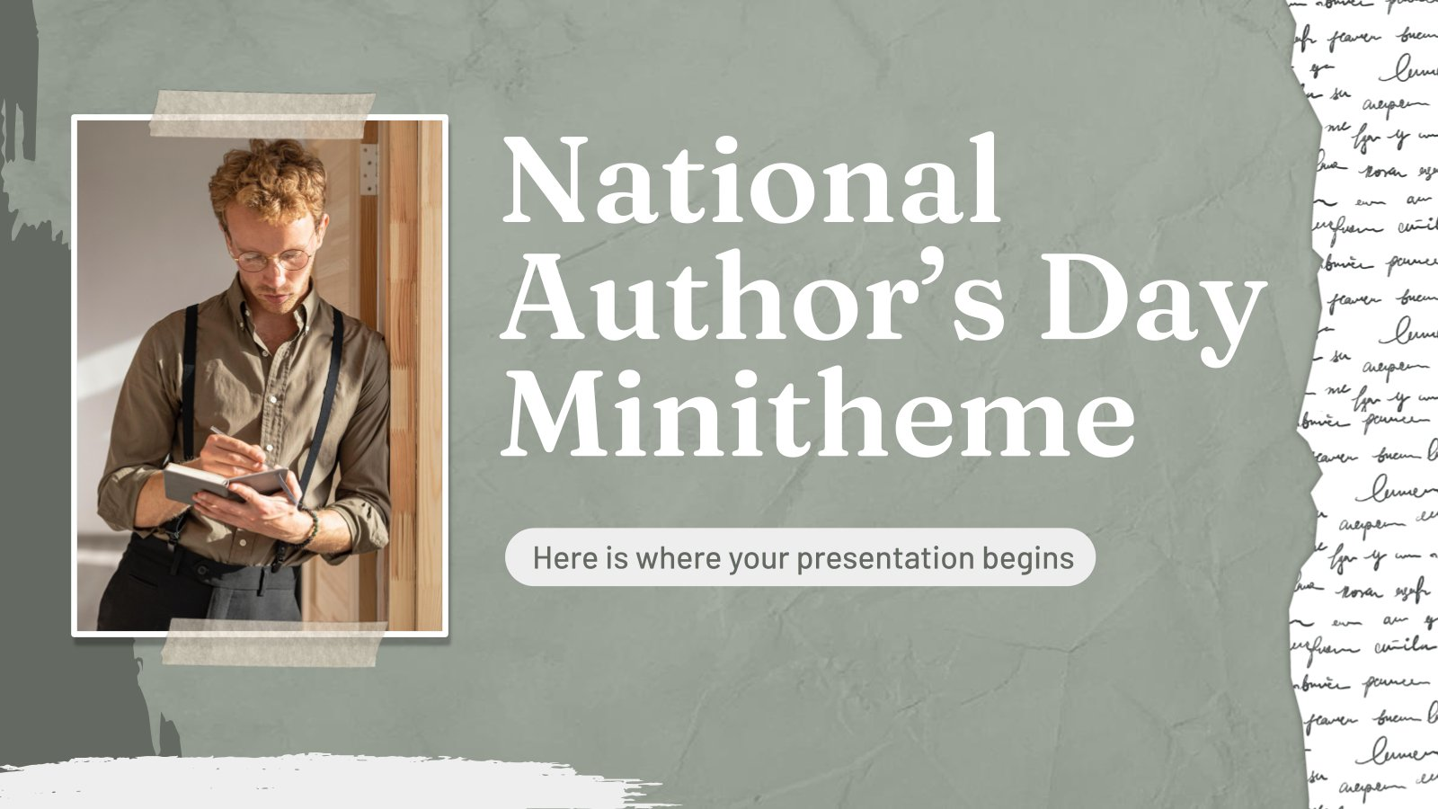 National Author's Day Minitheme presentation template