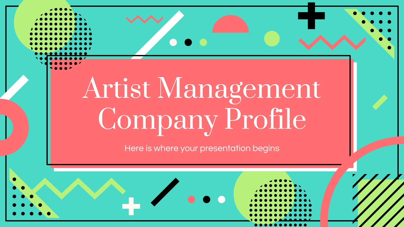 Artist Management Firmenprofil Präsentationsvorlage