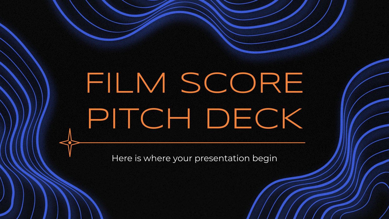 Pitch deck pour la musique de film : Modèles de présentation