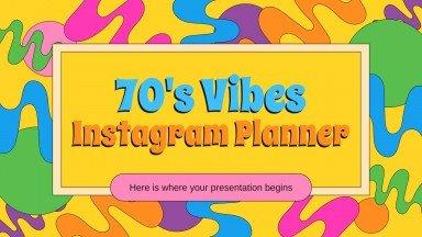70's Vibes Instagram Planner presentation template
