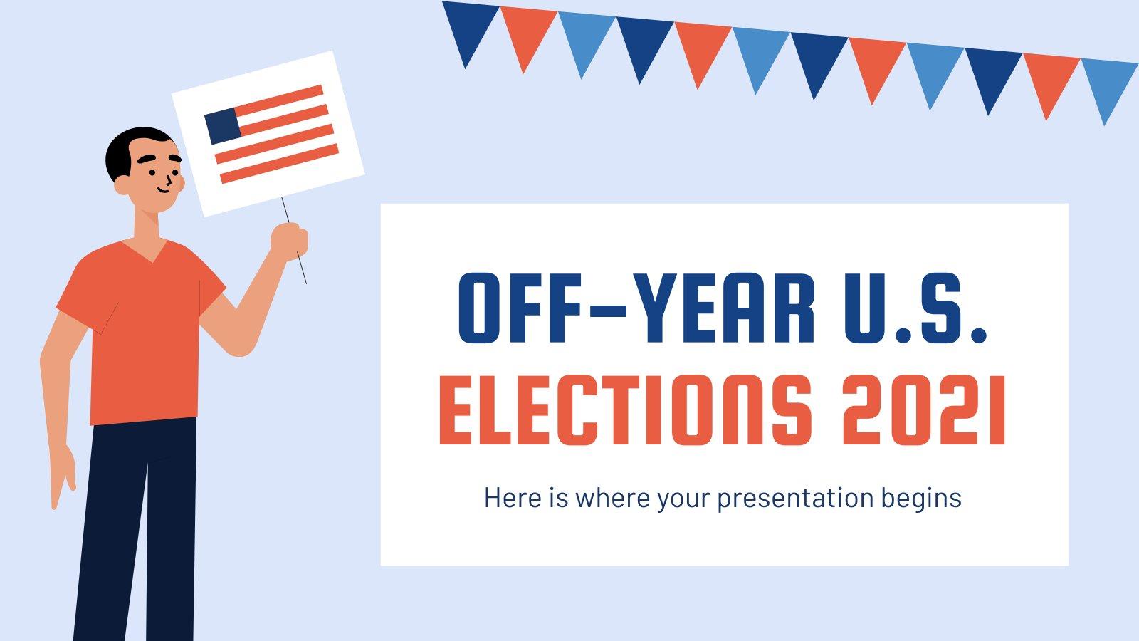 Wahlen in den Vereinigten Staaten 2021 Präsentationsvorlage