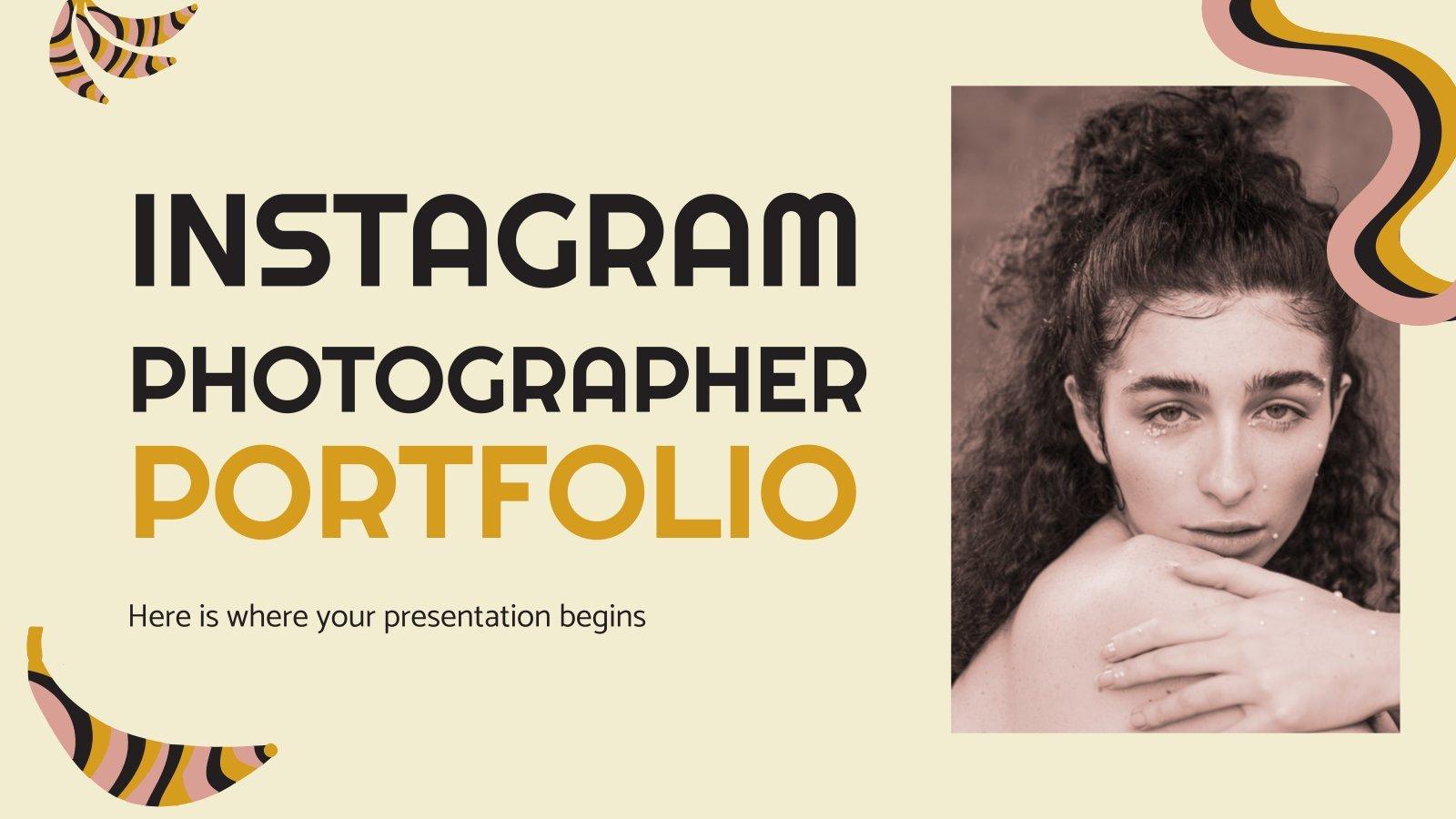 Instagram Fotografen Portfolio Präsentationsvorlage