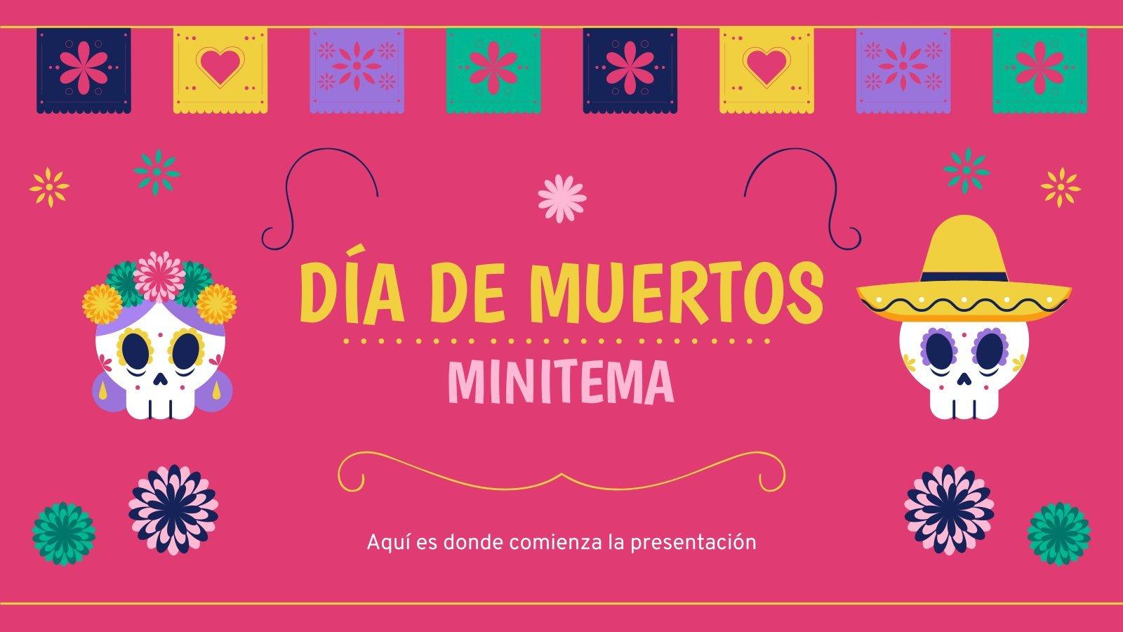 Plantilla de presentación México: Minitema de Día de Muertos