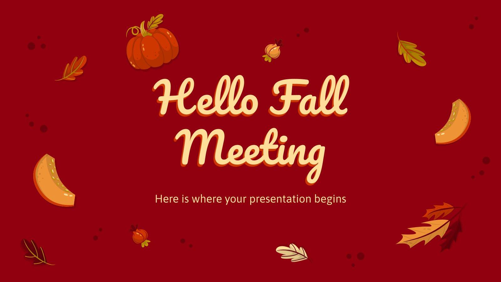 Modelo de apresentação Reunião: Olá, outono