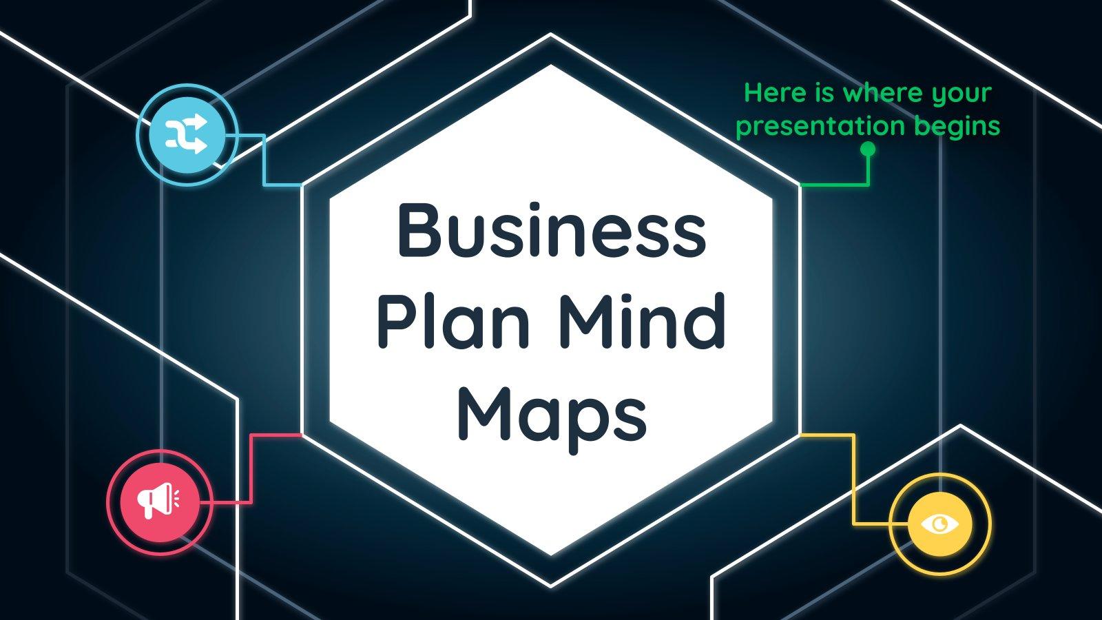 Plan d'affaires et cartes heuristiques : Modèles de présentation