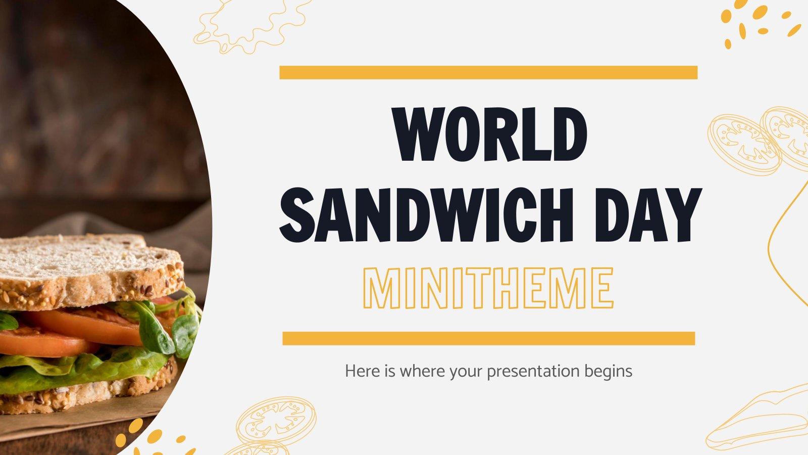Plantilla de presentación Minitema del Día Mundial del Sándwich