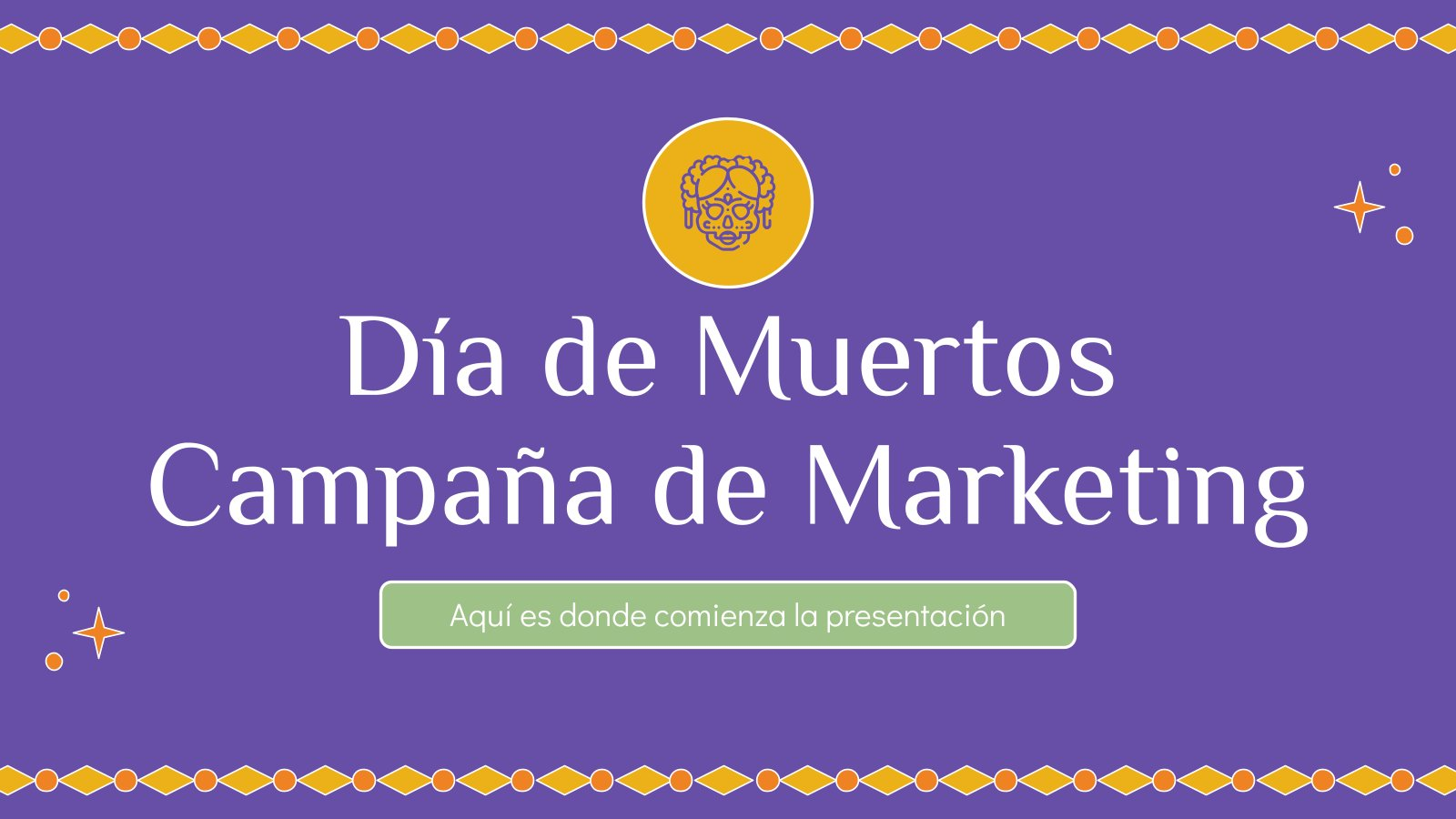Plantilla de presentación Campaña de marketing para Día de Muertos