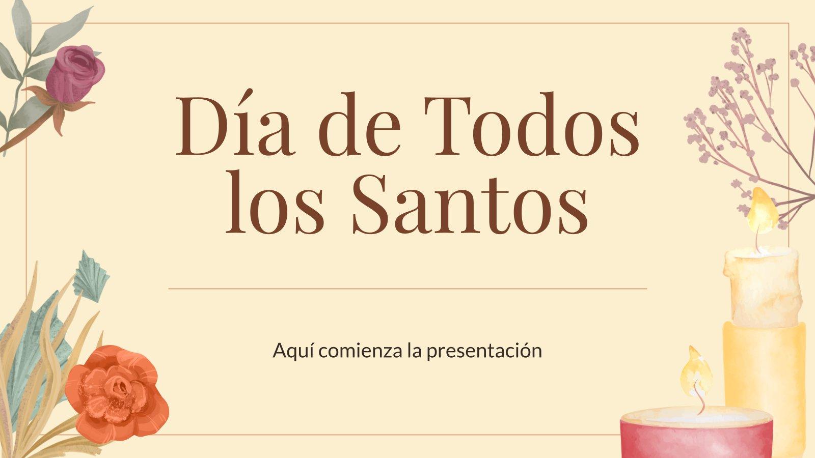 Modelo de apresentação Dia de Todos os Santos no mundo hispânico