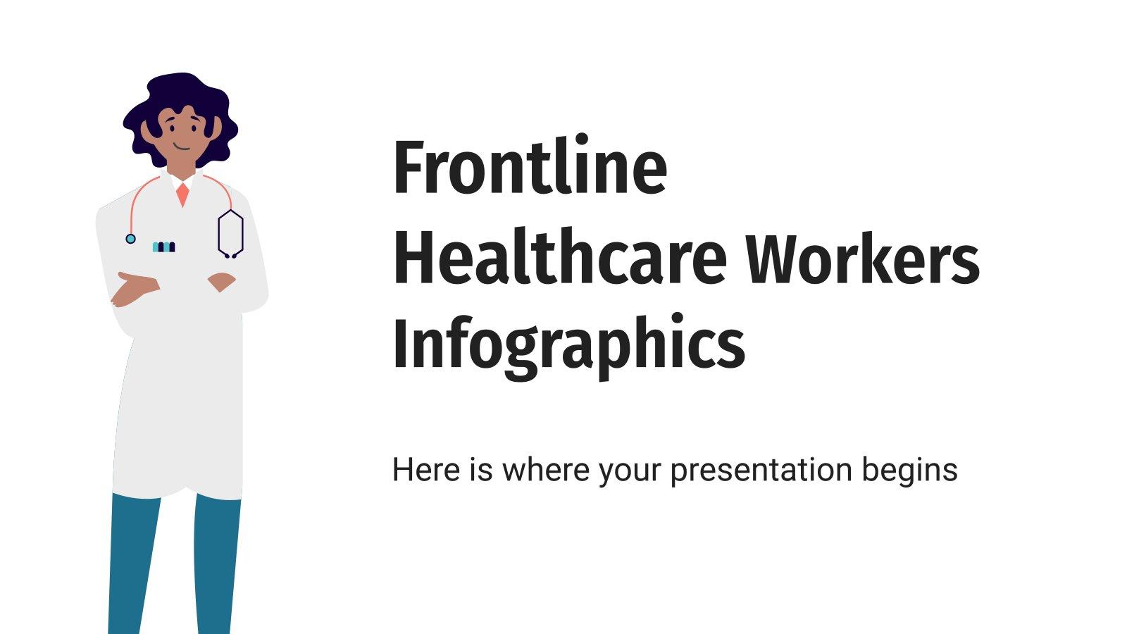 Frontline Healthcare Workers Infographics presentation template