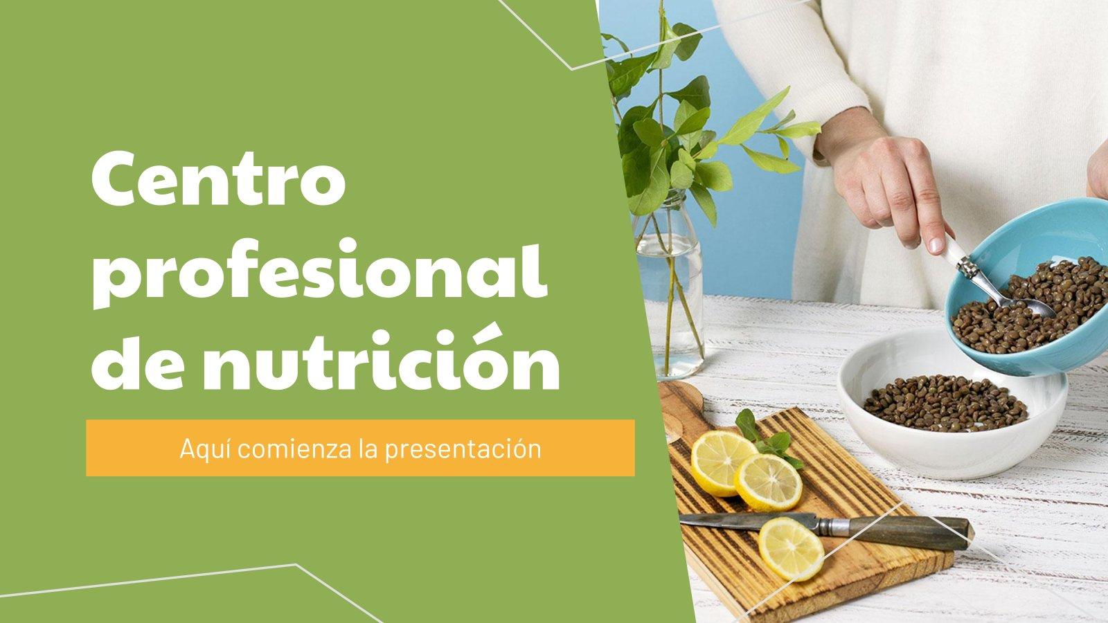 Professional Nutrition Center presentation template