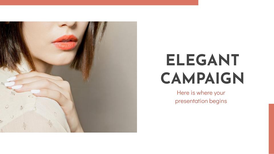 Plantilla de presentación Campaña elegante