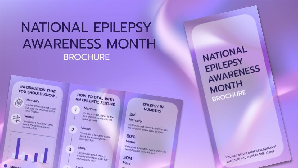 Modelo de apresentação Folheto do Mês de Conscientização da Epilepsia