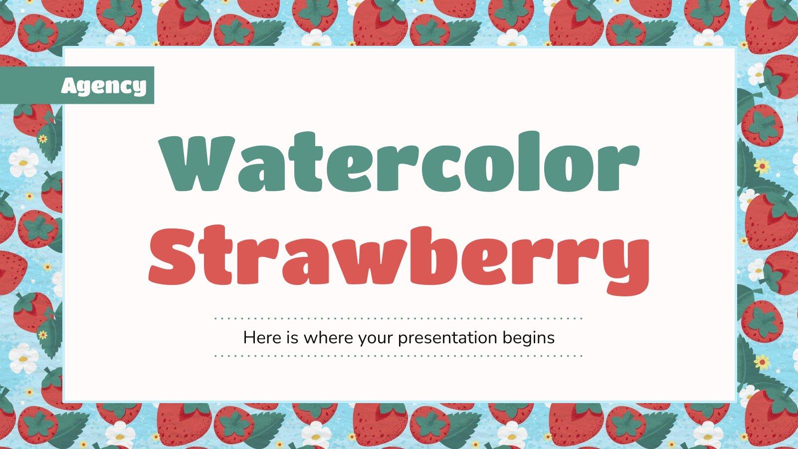 Agence fraises à l'aquarelle : Modèles de présentation