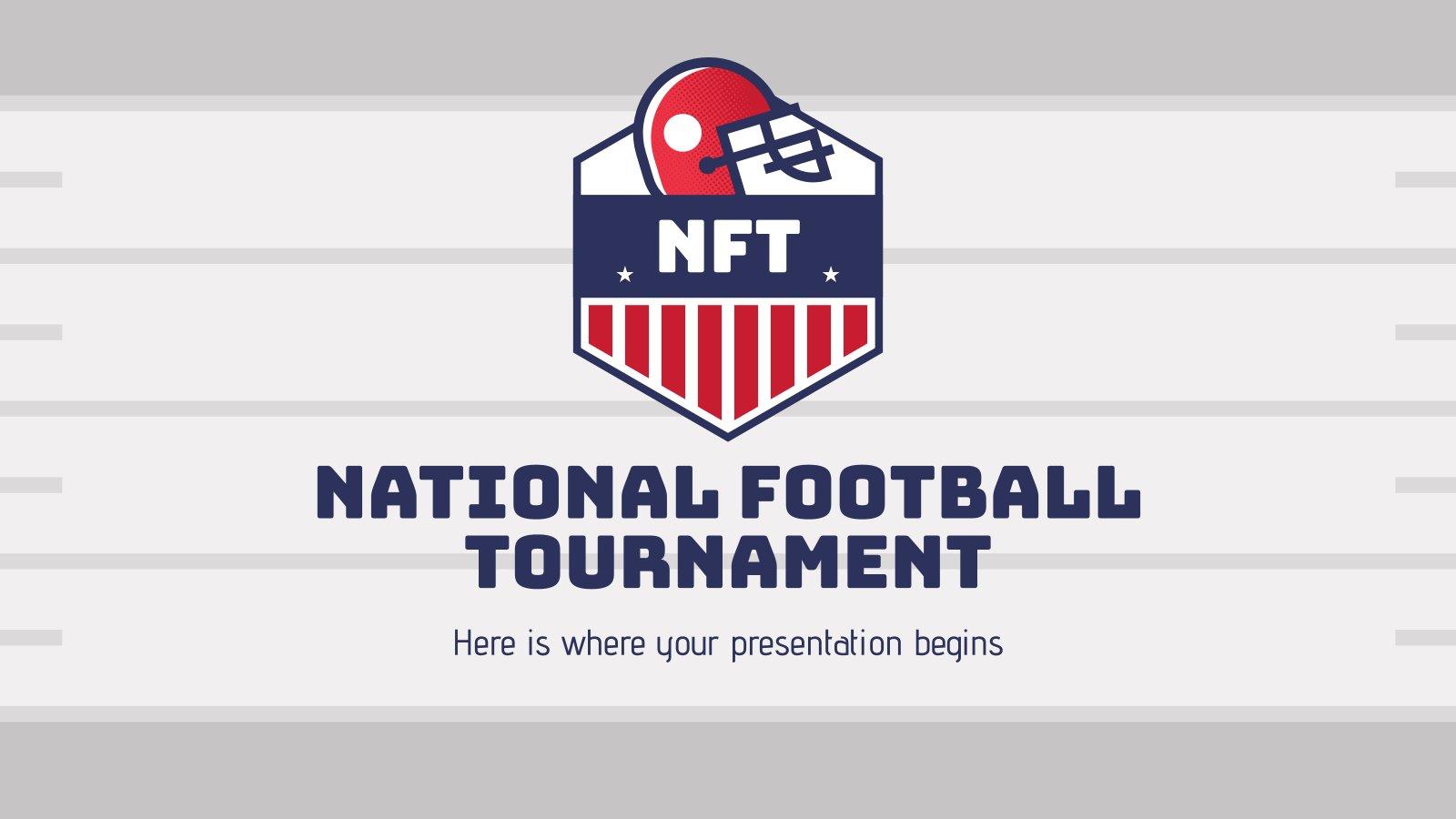 Modelo de apresentação NFT: Torneio Nacional de Futebol