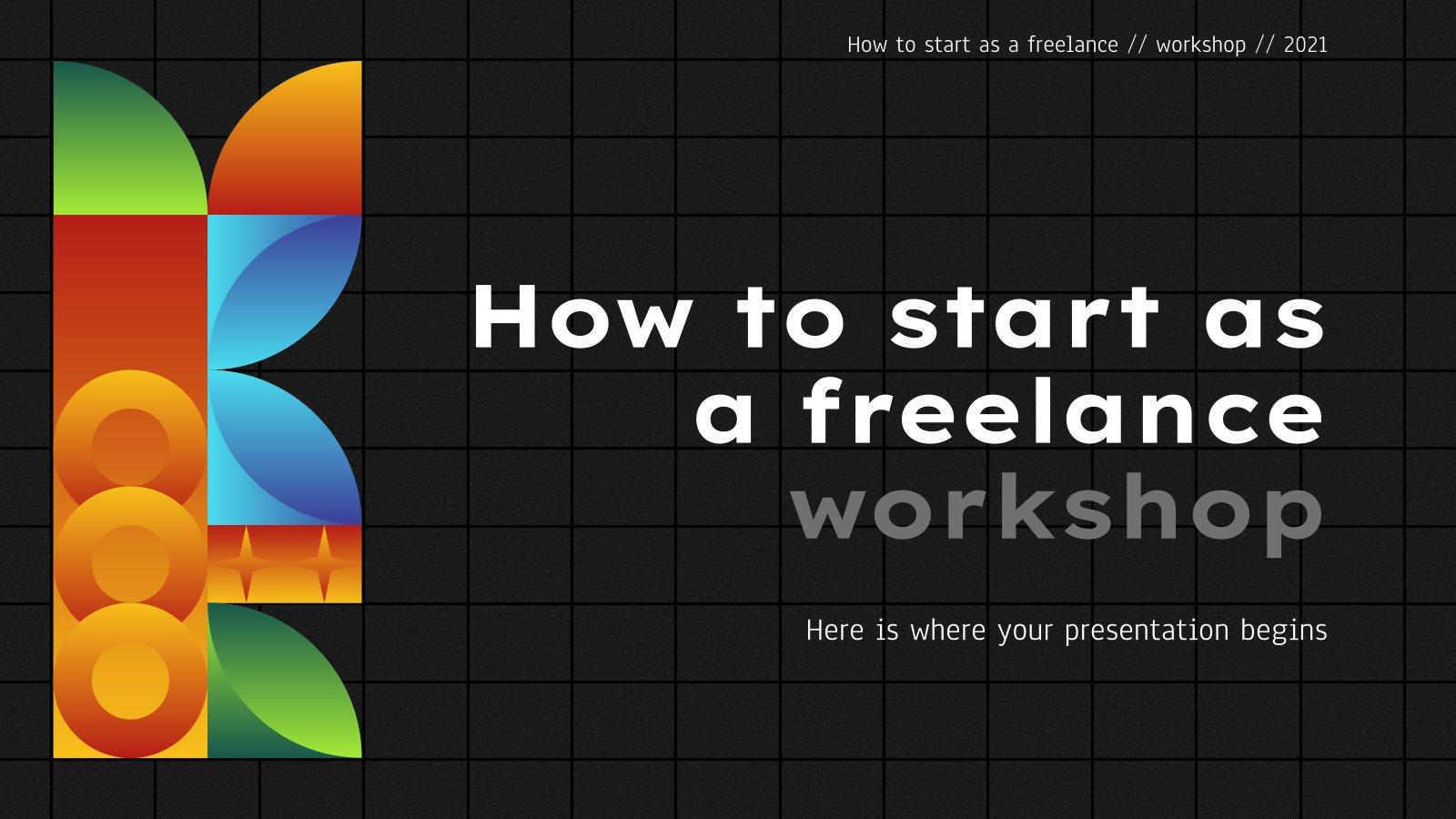 Atelier sur comment commencer en tant que freelance : Modèles de présentation