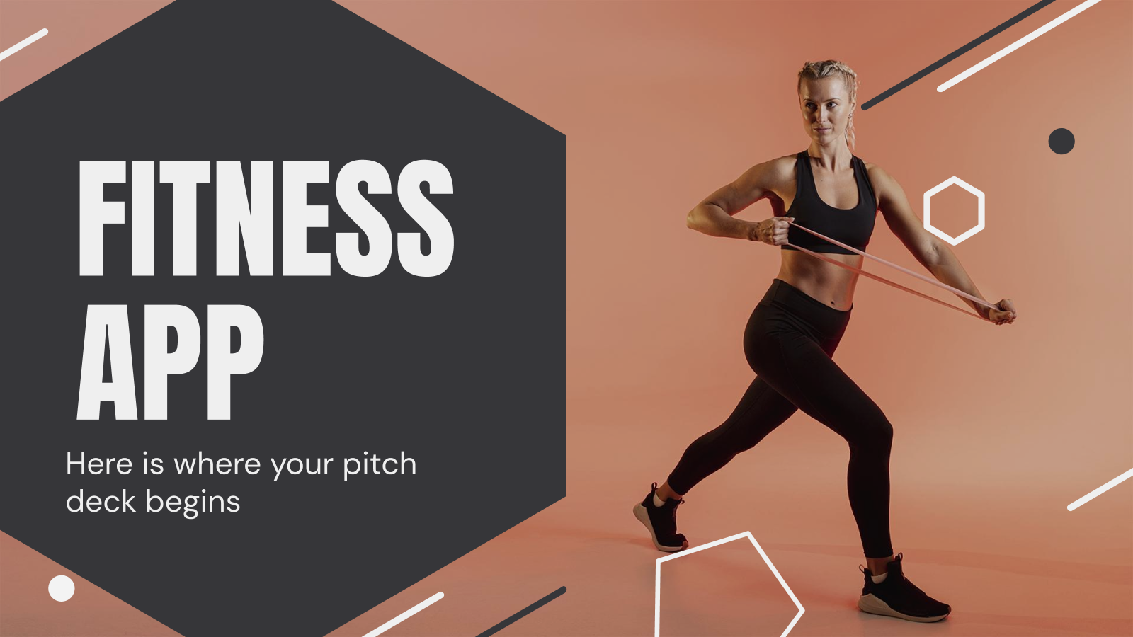 Fitness App Pitch Deck presentation template